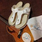 フラウクレレ演奏&アロハ・かりゆしウェアファッションに合うサンダル購入